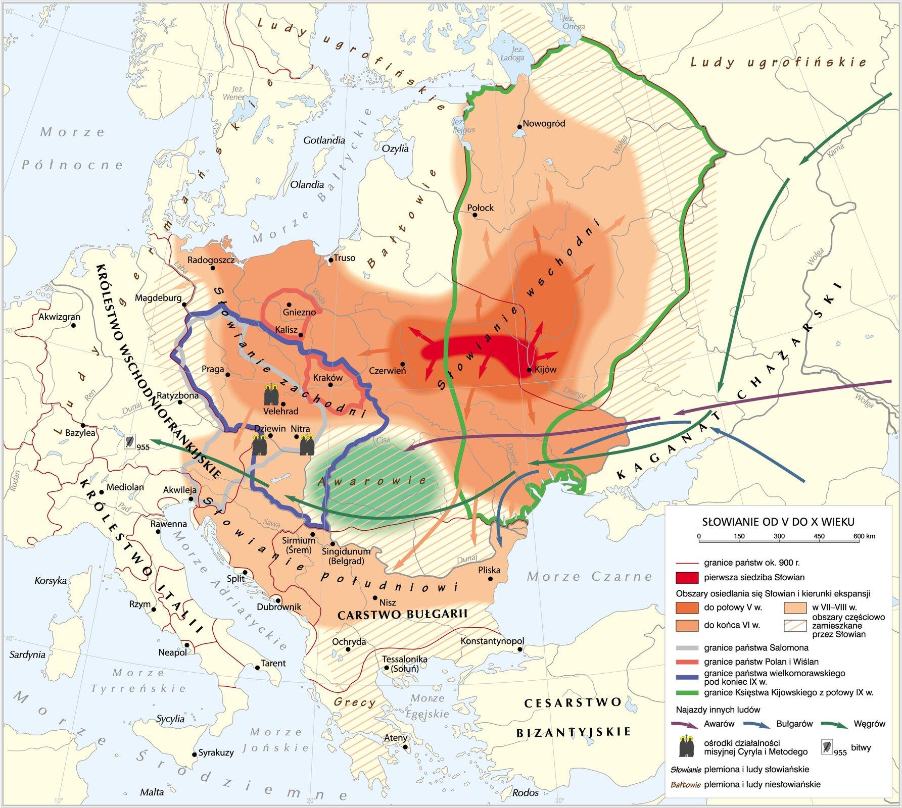 mapa Słowian