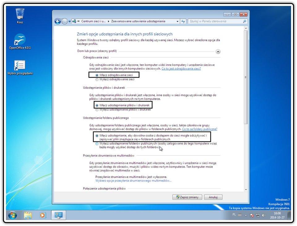 Ilustracja przedstawiająca: Krok 5 konfigurowania ustawień udostępniania wsystemie Windows
