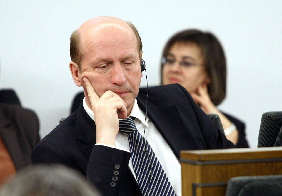 Maciej Płażyński podczas uroczystego Zgromadzenia posłów isenatorów RP, 2007 rok