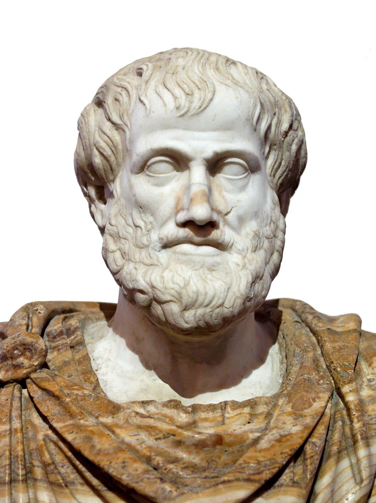 Popiersie Arystotelesa (kopia) Popiersie Arystotelesa (kopia) Źródło: Lysippus, ok. 330 p.n.e, rzeźba, Museo nazionale romano di palazzo Altemps, domena publiczna.