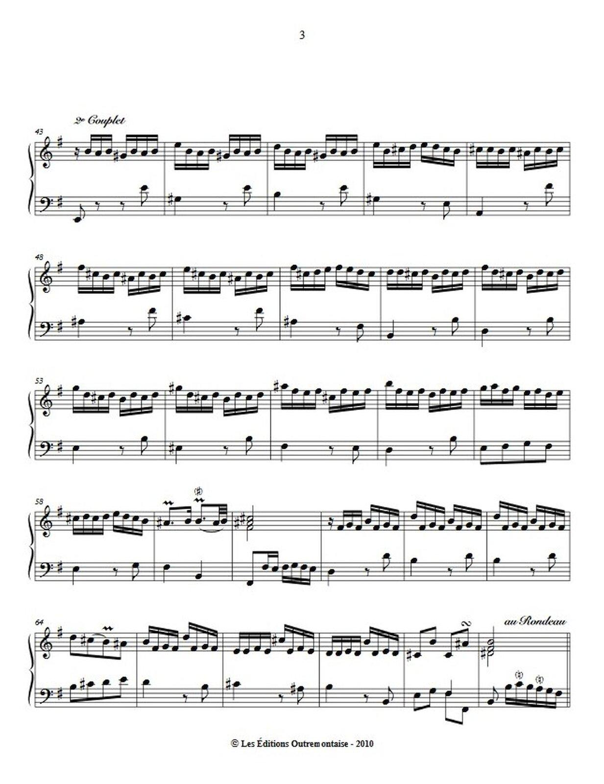 """Zdjęcie przedstawia graficzny utwór muzyczny. Fotografia ukazuje czarną pięciolinię znutami, na białej stronie utworu Louis-Claude Daquin – """"Kukułka""""."""