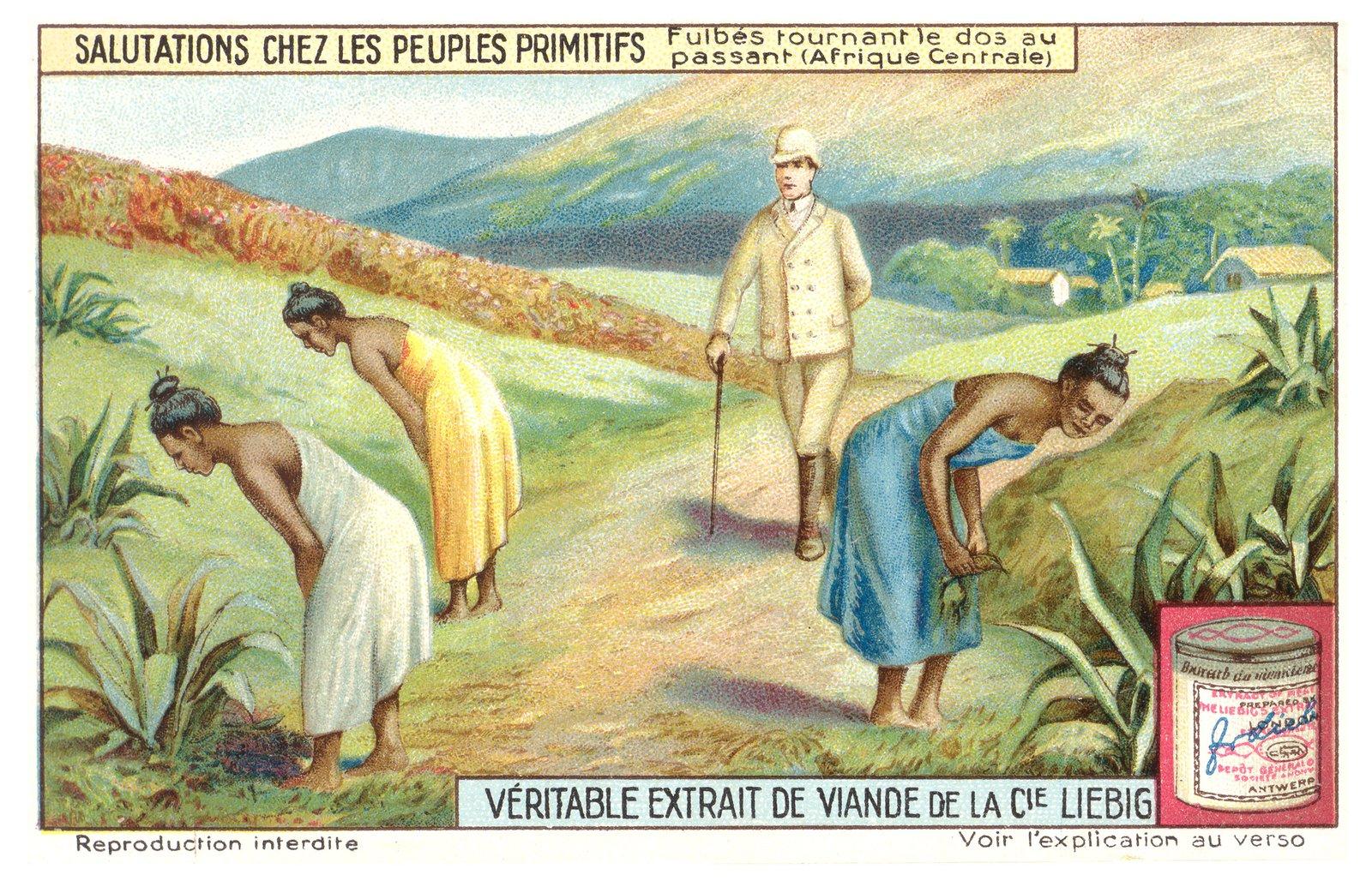 Reklama kostek rosołowych Źródło: Reklama kostek rosołowych, 1910, Liebig Chromos, domena publiczna.