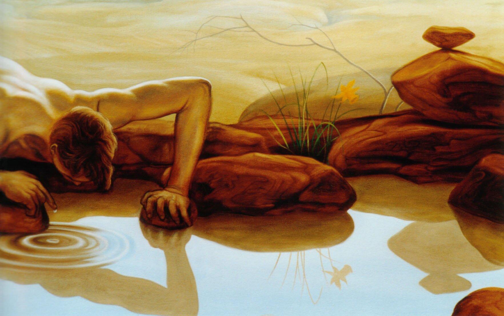 Richard Baxter - Narcissus and Echo (detal) Źródło: cea, Richard Baxter - Narcissus and Echo (detal), licencja: CC BY 2.0.