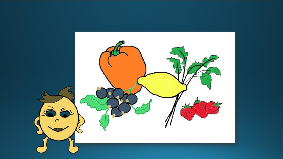 Zrzut slajdu zwstawioną ilustracją iclipartem