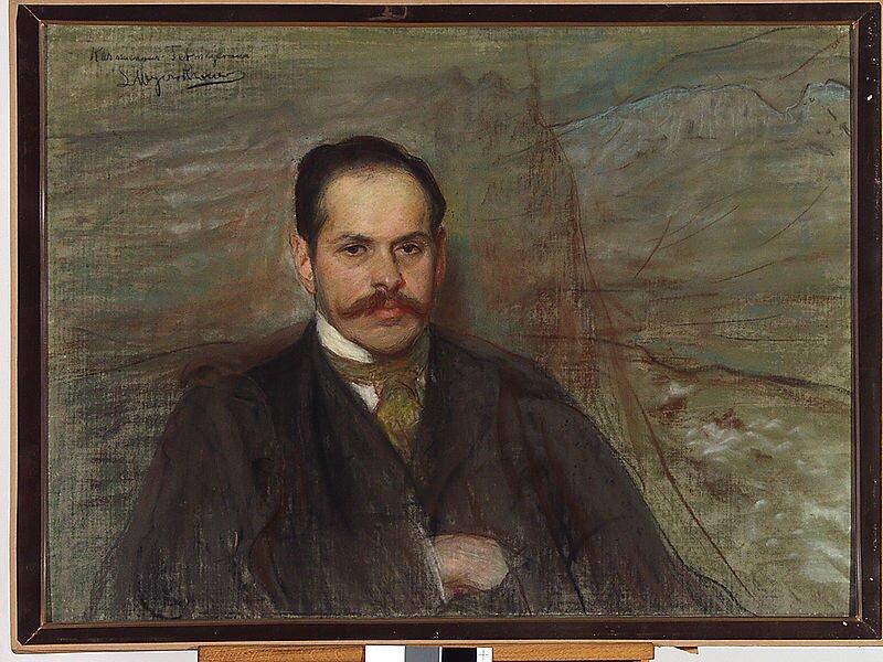 LeonWyczółkowski, Portret Kazimierza Tetmajera, ok. 1898 LeonWyczółkowski, Portret Kazimierza Tetmajera, ok. 1898 Źródło: domena publiczna.