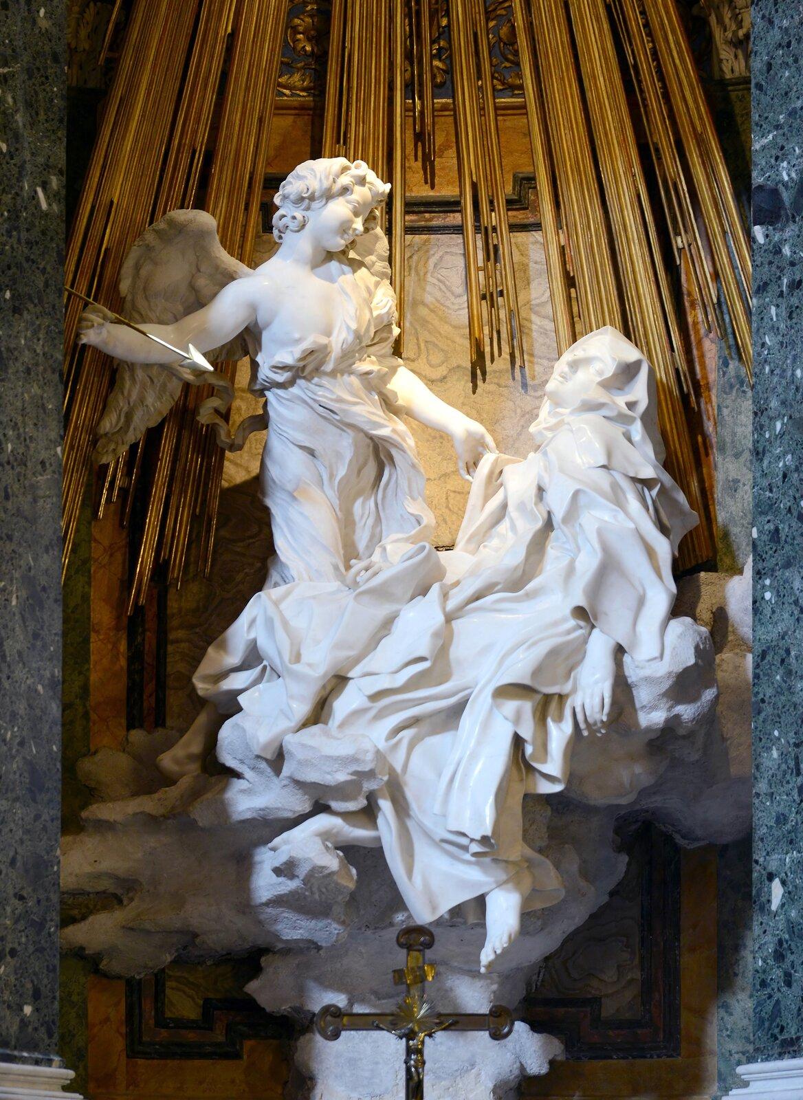 Ekstaza św. Teresy Źródło: fot. Alvesgaspar , Gianlorenzo Bernini, Ekstaza św. Teresy, 1647–1652, marmur, licencja: CC BY 4.0.