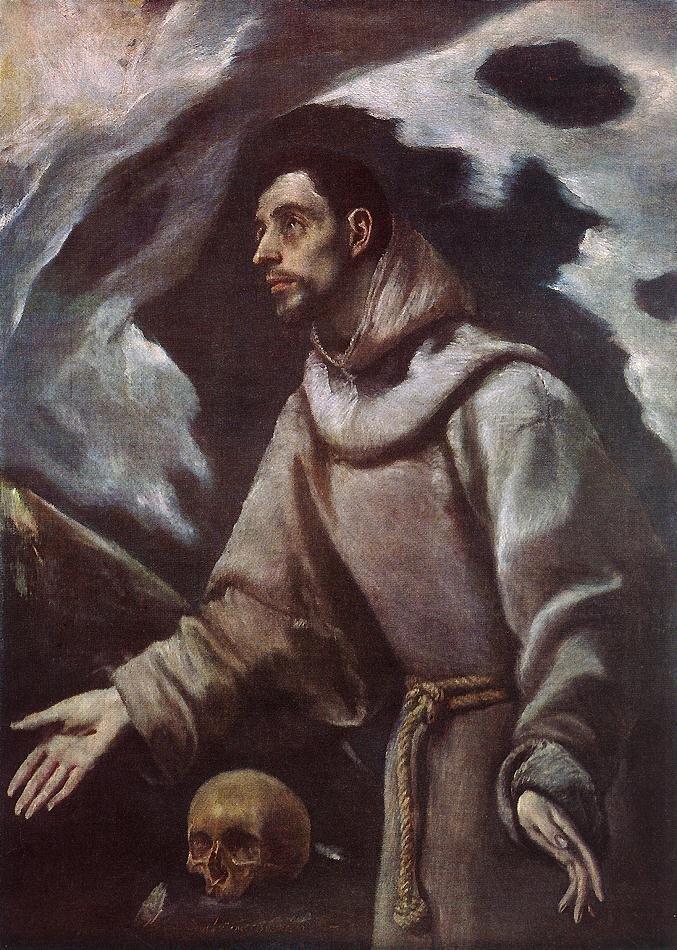 Ekstaza św. Franciszka Źródło: El Greco, Ekstaza św. Franciszka, ok. 1580, olej na płótnie, Muzeum Diecezjalne, Siedlce, domena publiczna.