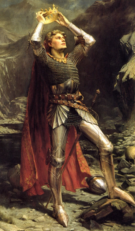 Król Artur Źródło: Charles Ernest Butler, Król Artur, 1903, domena publiczna.