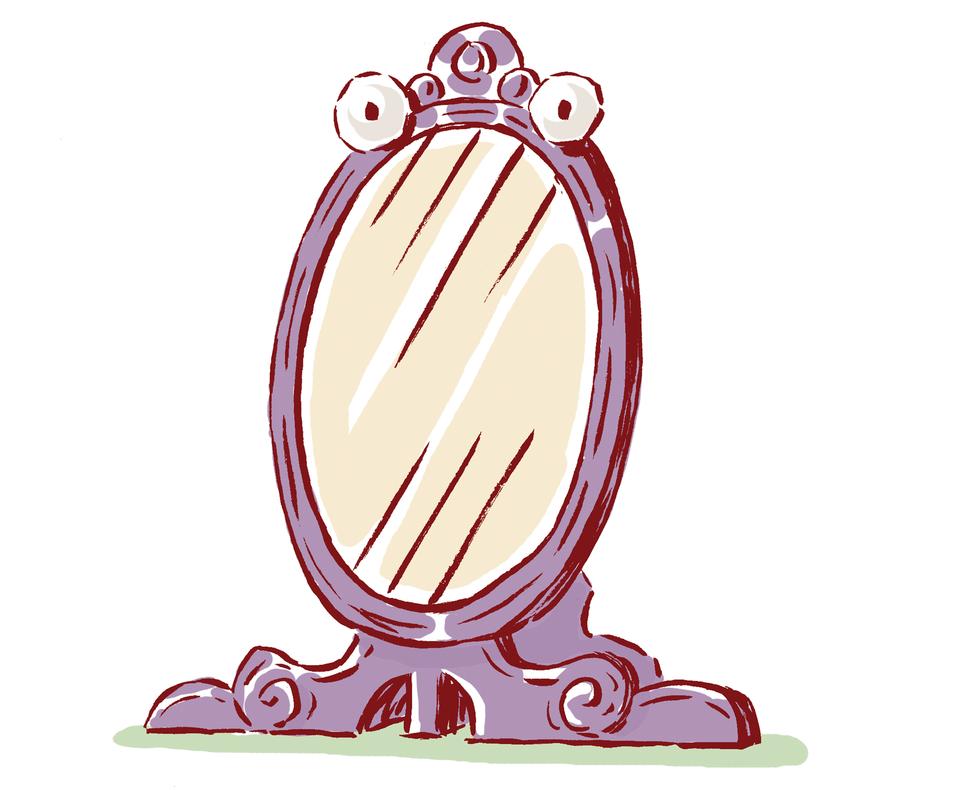 Zaczarowane lustro Zaczarowane lustro Źródło: Uniwersytet Wrocławski, licencja: CC BY 3.0.