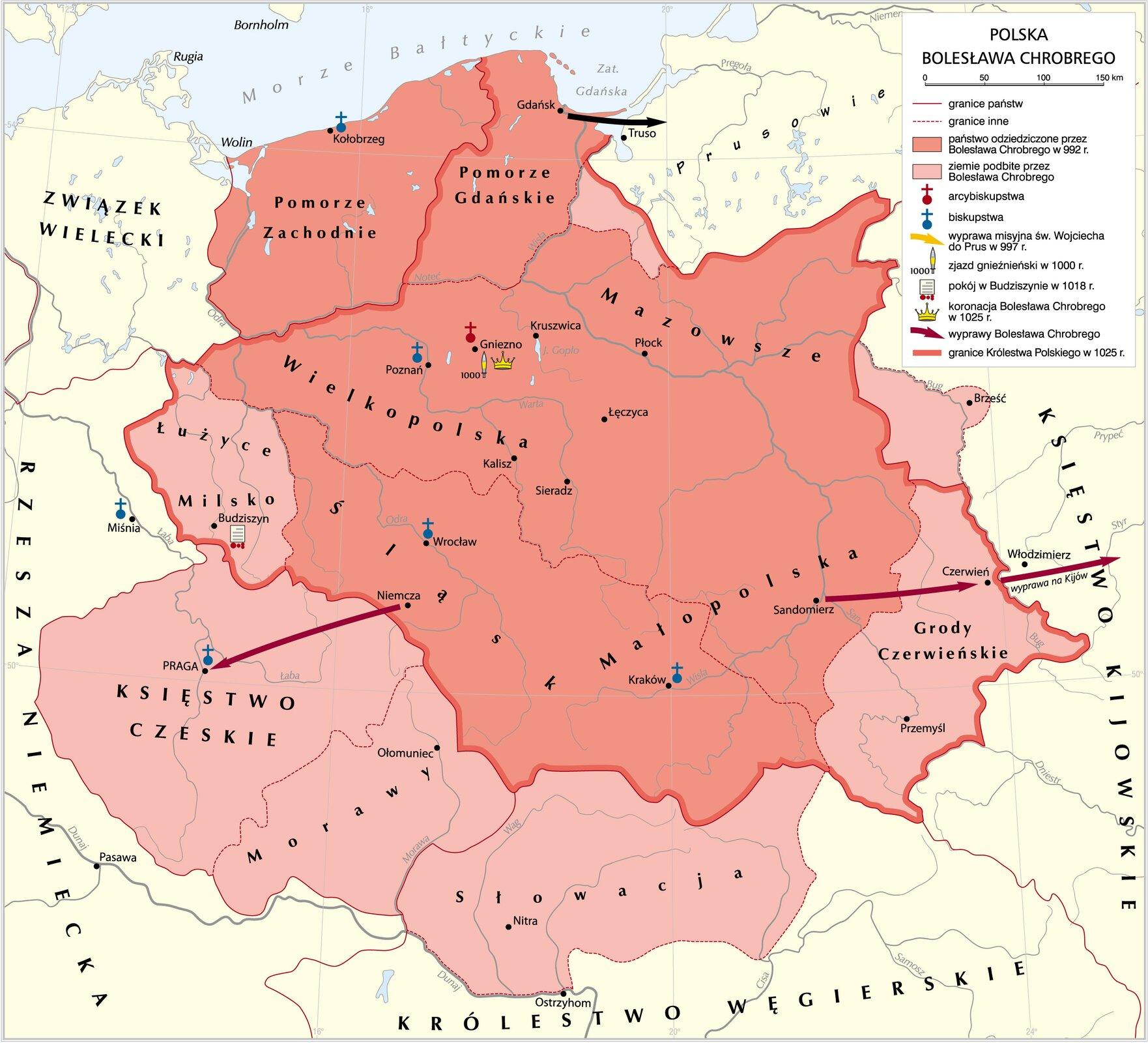 Polska Bolesława Chrobrego Polska Bolesława Chrobrego Źródło: Krystian Chariza izespół, licencja: CC BY 3.0.