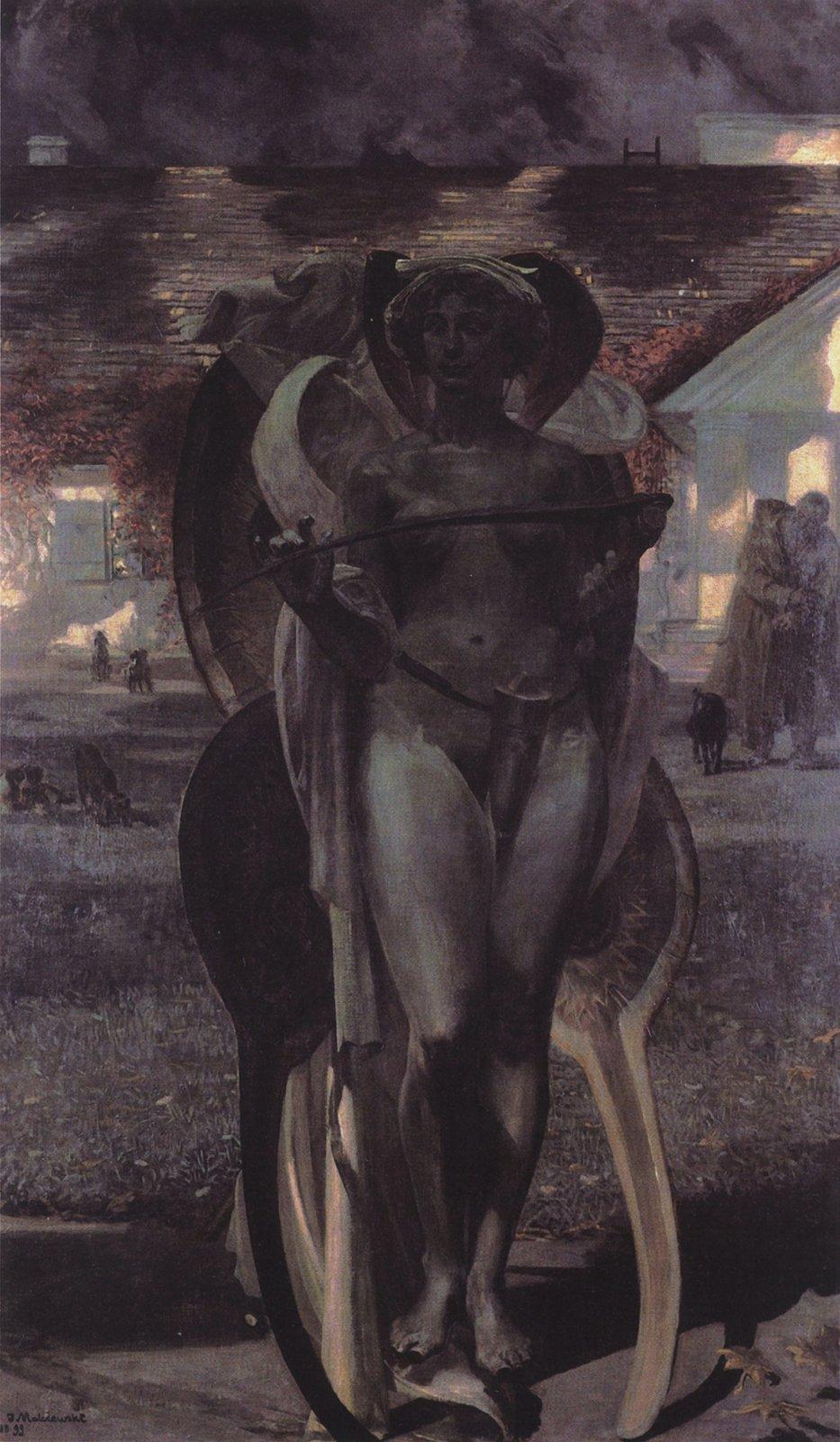 Thanatos II Źródło: Jacek Malczewski, Thanatos II, 1899, Muzeum Sztuki wŁodzi, domena publiczna.