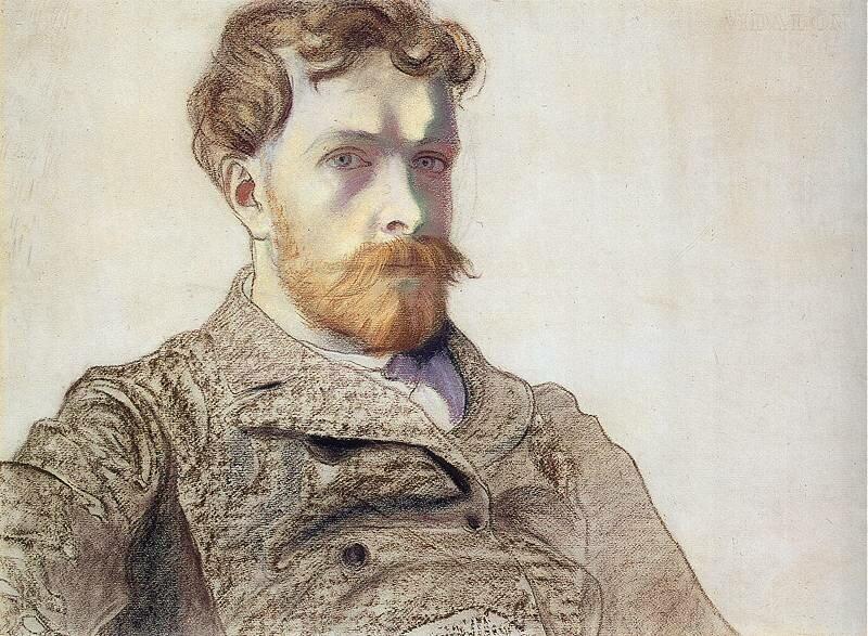 Autoportret Źródło: Stanisław Wyspiański, Autoportret, 1903, pastel na papierze, Muzeum Narodowe, Kraków, domena publiczna.