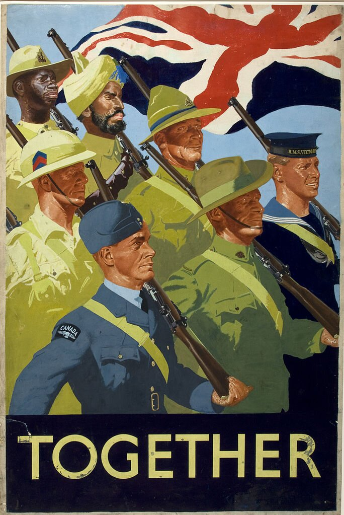 Tohether Źródło: William Little, Tohether, 1939–1946, plakat propagandowy, domena publiczna.