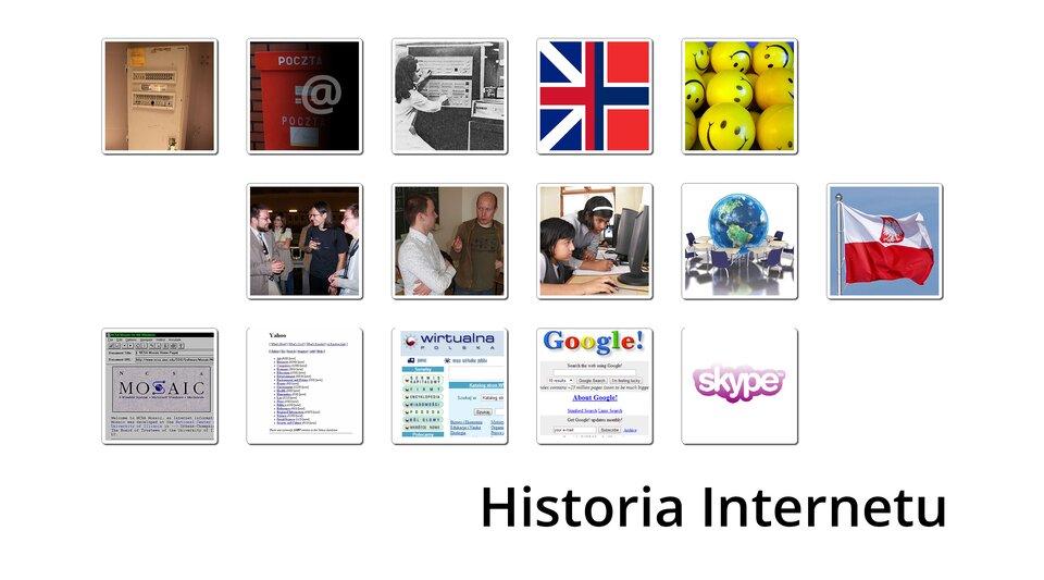 Interaktywna oś czasu na temat historii Internetu