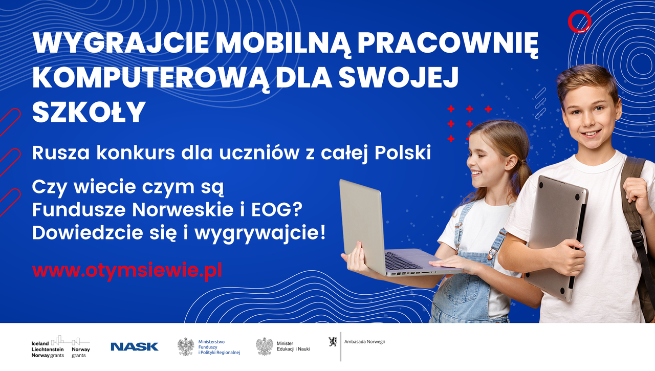 """Ilustracja przedstawiająca okładkę aktualności Konkurs plastyczno-cyfrowy """"Fundusze Norweskie iEOG – otym się wie!"""""""