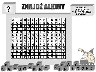 Znajdź nazwy alkinów