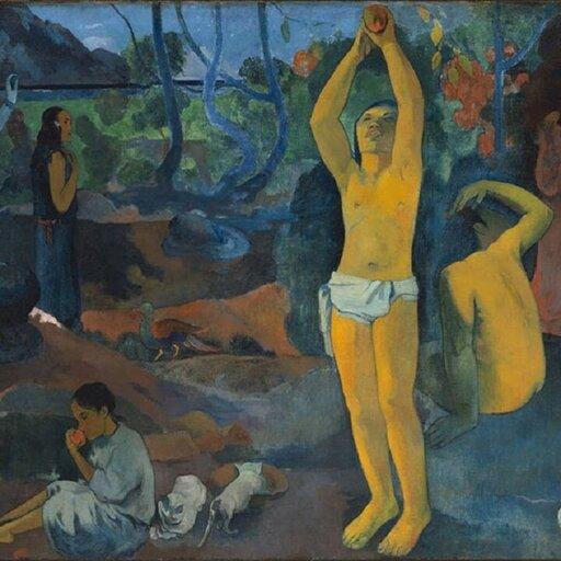 Poetycki symbolizm inspirowany folklorem ipejzażem Bretanii – Paul Gauguin