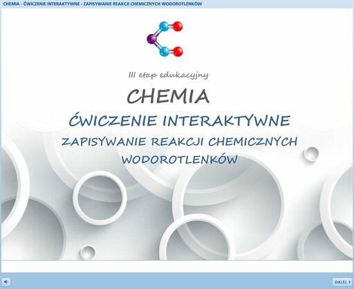 Zapisywanie reakcji chemicznych wodorotlenków