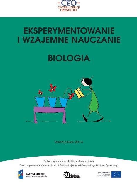 Eksperymentowanie iwzajemne nauczanie. Biologia