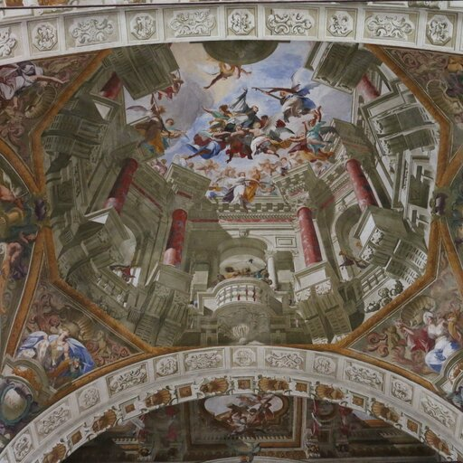 Kwadratura we włoskim malarstwie freskowym – Andrea del Pozzo