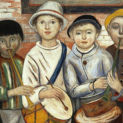 Łączenie doświadczeń kubizmu isztuki ludowej wmalarstwie Tadeusza Makowskiego
