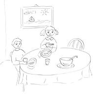 Prawidłowe zachowanie przy stole
