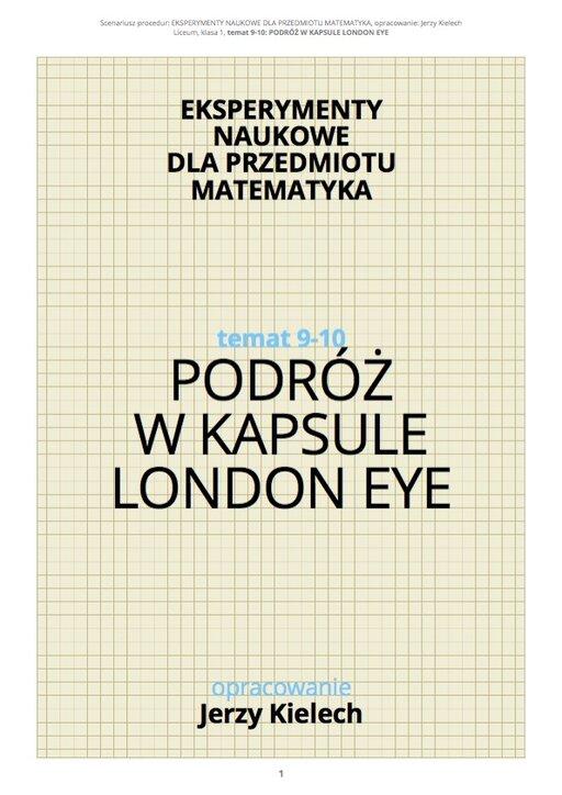 Podróż wkapsule London Eye