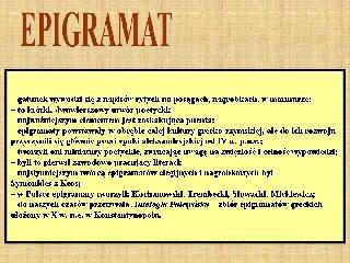 Epigramat