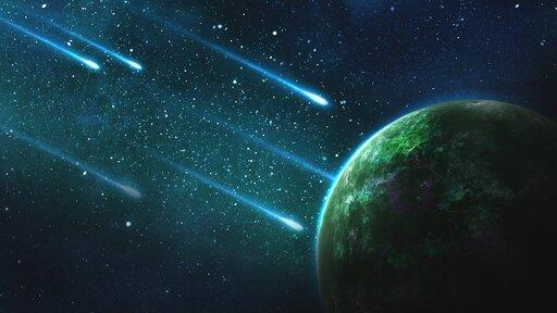 Komety imeteoroidy – posłańcy życia?