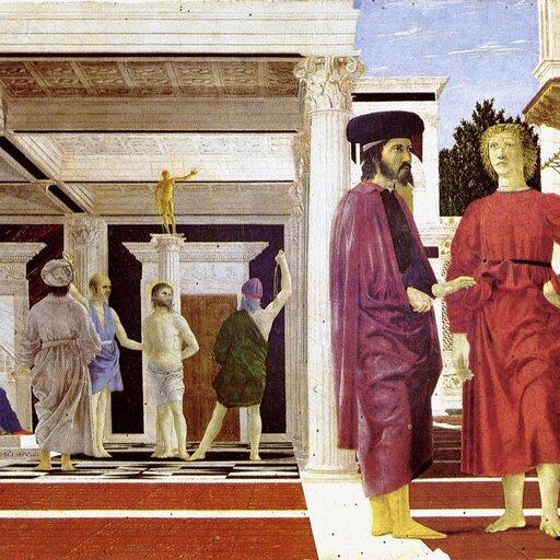 Quattrocento wmalarstwie włoskim- nowatorstwo formy Piera della Francesca