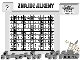 Znajdź nazwy alkenów