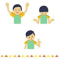 Improwizacja ruchowa przedstawiająca radość, smutek, złość
