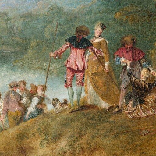 Fête galante – rokokowe scenerie Antoine'a Watteau