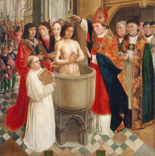 Chrzest Chlodwiga irządy Merowingów