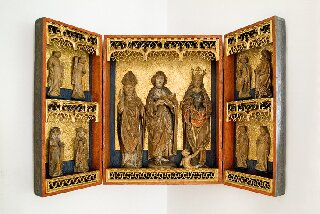 Rzeźba - Tryptyk ku czci świętych