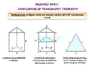 Przekrój bryły – graniastosłup prawidłowy trójkątny