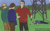 Porażenie prądem owysokim napięciu