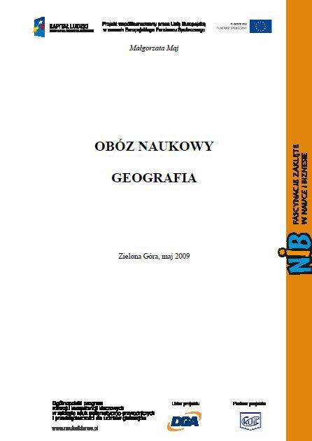 Obóż naukowy - geografia