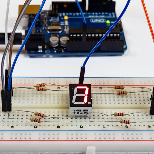 Arduino – wyświetlacz ośmiosegmentowy