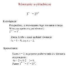 Równanie wykładnicze