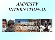 Amnesty International - prawa człowieka