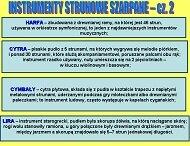 Instrumenty strunowe szarpane cz. 2