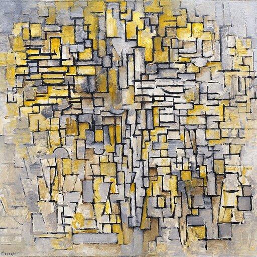 Kompozycja ikolor - neoplastycyzm Mondriana idziałalność artystów zgrupy De Stijl