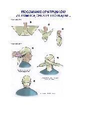 Mocowanie opatrunków za pomocą chusty trójkątnej