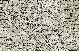 Okolice Międzylesia na austrowęgierskiej mapie wojskowej z1893 roku