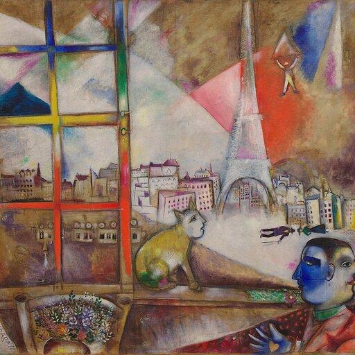 Główni przedstawiciele École de Paris - Modigliani iChagall