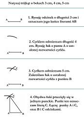 Konstrukcje trójkątów - instrukcja