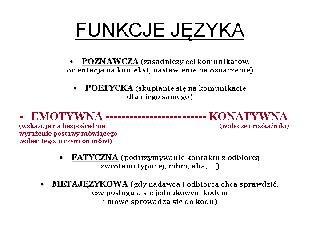 Funkcje języka