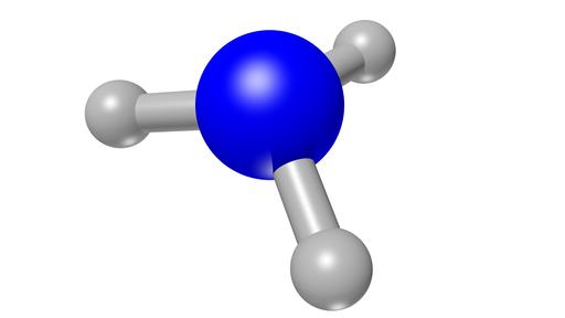 Porównanie budowy amoniaku iamin