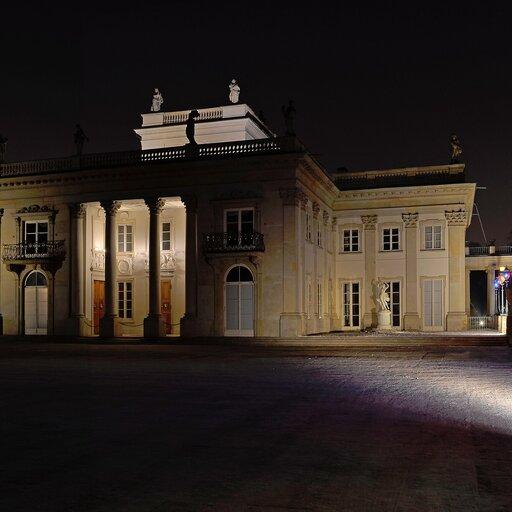 Budowla zportykiem - projektuję plan ifasadę pałacu